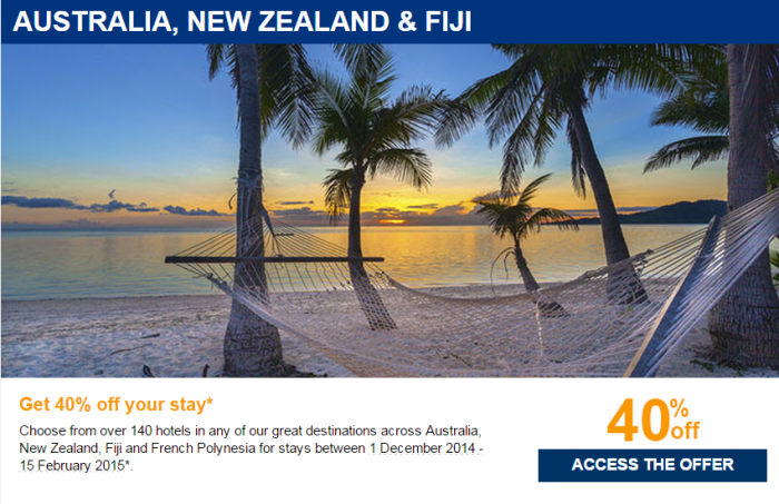 Le Club Accorhotels Private Sale October 2014 Australia New Zealand Fiji