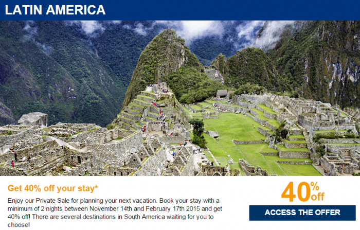 Le Club Accorhotels Private Sale October 2014 Latin America