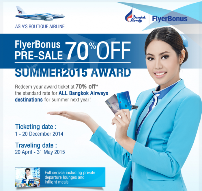 Bangkok Airways FlyerBonus Sale