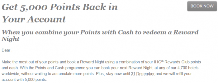 IHG Rewards Club Targeted Points + Cash 5000 Bonus