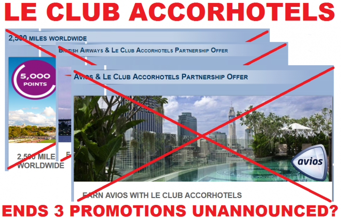 Le Club Accorhotels British Airways Avios Delta Promotions Fall 2014 Cancelled