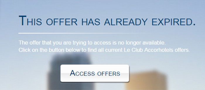 Le Club Accorhotels British Airways Avios Delta Promotions Fall 2014 Cancelled Box