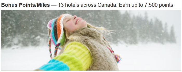 Marriott Rewards Canada Up To 7500 Bonus Points Per Stay December 15 March 1 2015