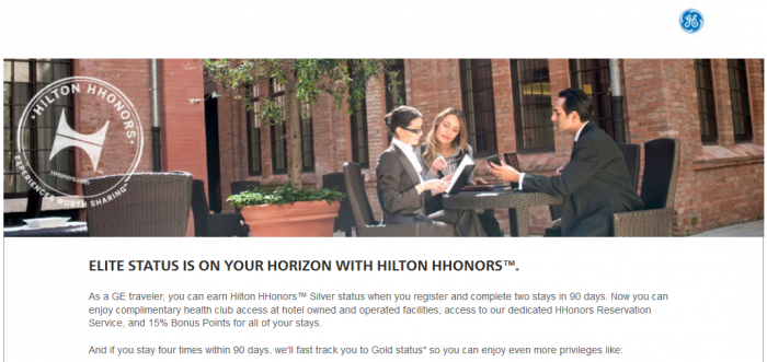 Hilton HHonors General Electric Silver Gold Fast Track 2015