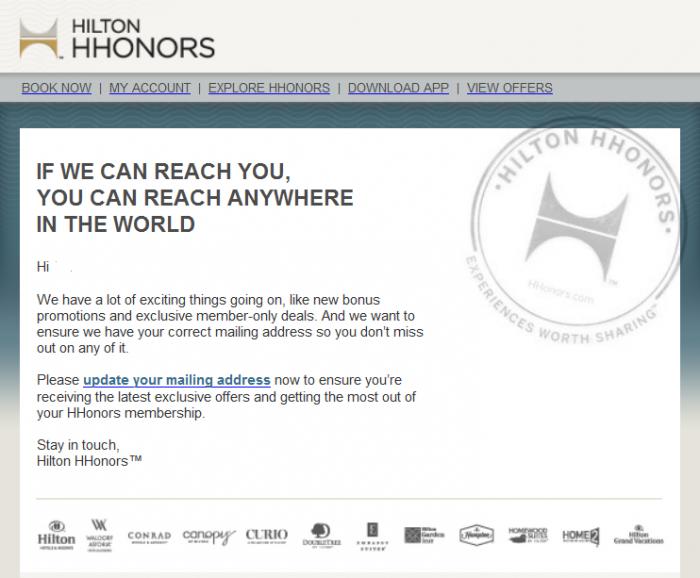 Hilton HHonors Lifetime Status Coming