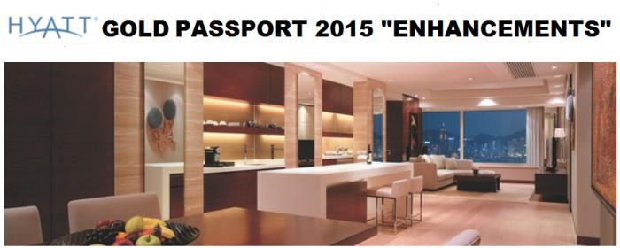 Hyatt Gold Passport 2015 Program Enhancements