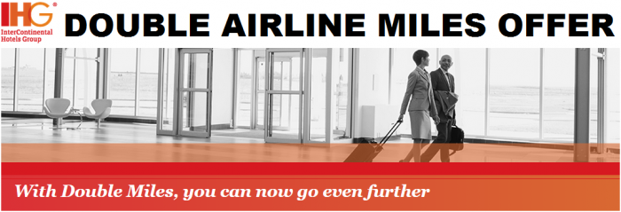 IHG Rewards Club Double Airline Miles Offer January 7 April 30 2015 U
