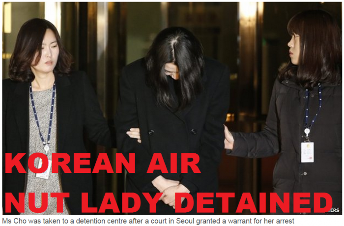 Korean Air Nut Lady Detained