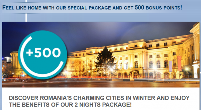 Le Club Accorhotels Romania 500 Bonus Points December 19 - February 28, 2015