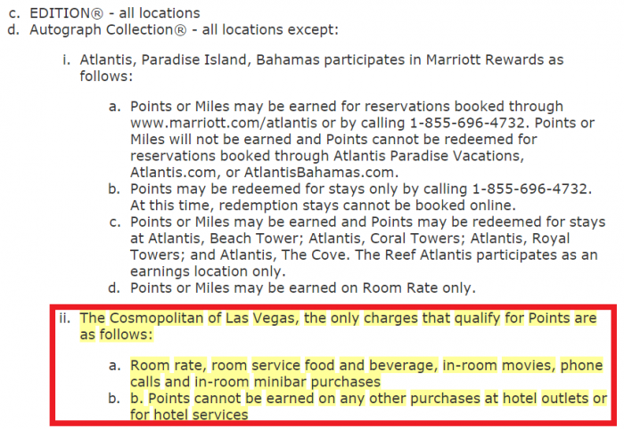 Marriott Rewards Terms and Conditions Update Cosmopolitan