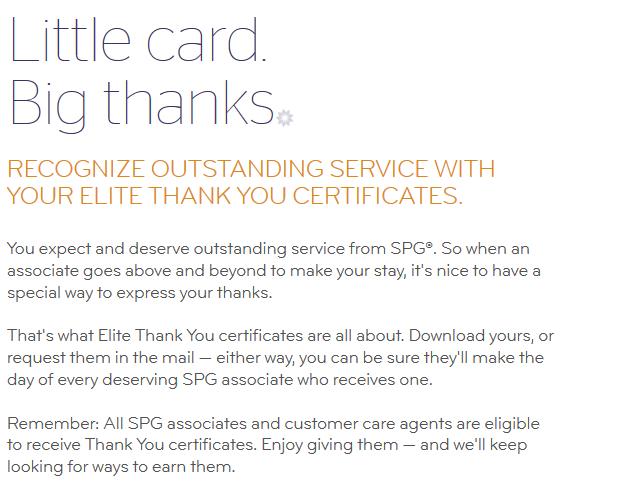 SPG Elite Thank You Certificates Body