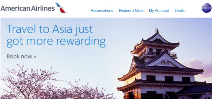American Airlines Double Awards Miles To Asia
