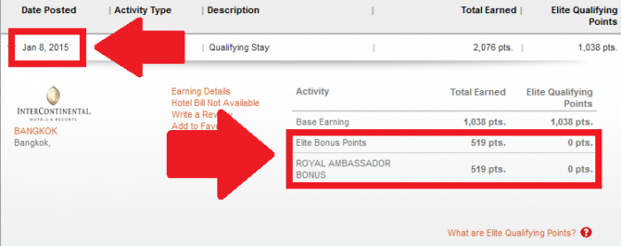 IHG Rewards Club Royal Ambassador InterContinental Points Earning Enhancement Past Jan 1 2015 Update