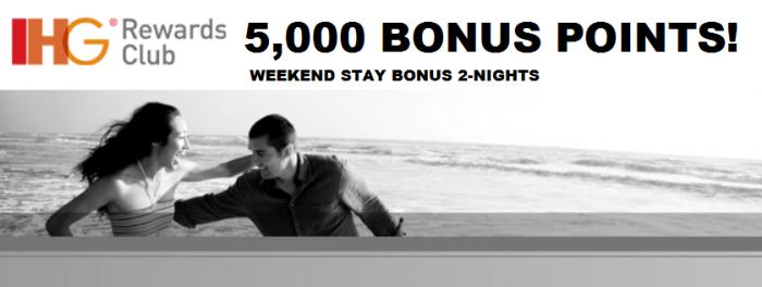 IHG Rewards Club Weekend Stay Bonus Main