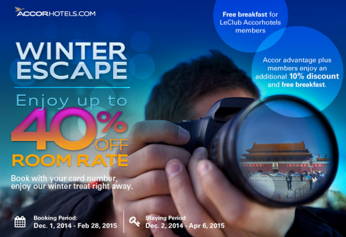 Le Club Accorhotels China Winter Escape Up To 40 Percent Off