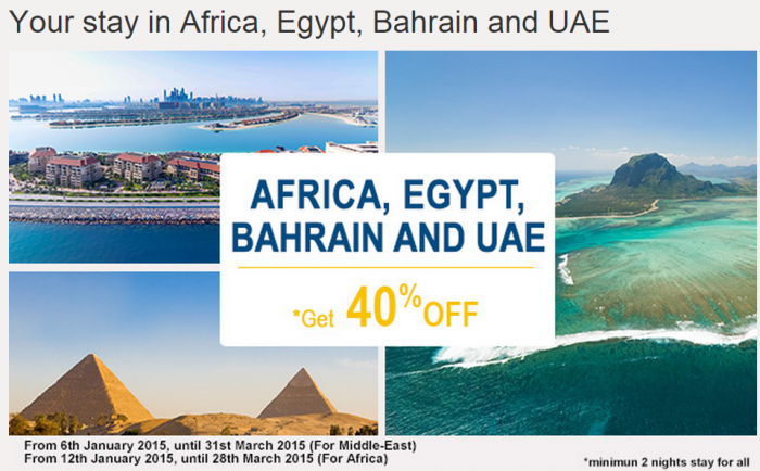 Le Club Accorhotels January 2015 Private Sale Easter Africa Egypt Bahrain UAE