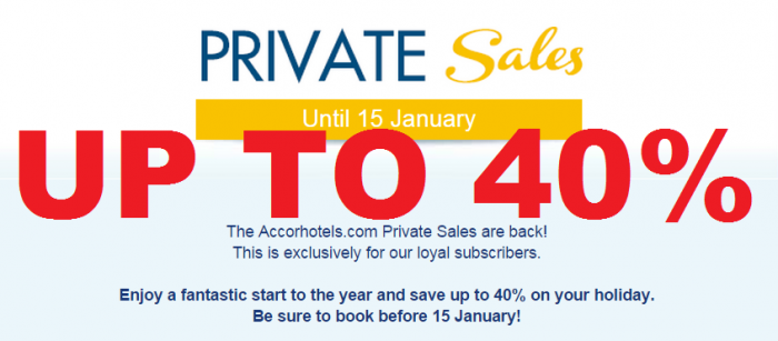 Le Club Accorhotels January 2015 Private Sales