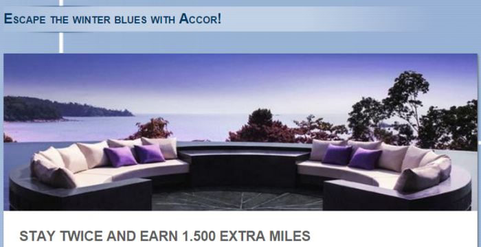 Le Club Accorhotels Lufthansa Miles&More Bonus Miles Offer February March 2015