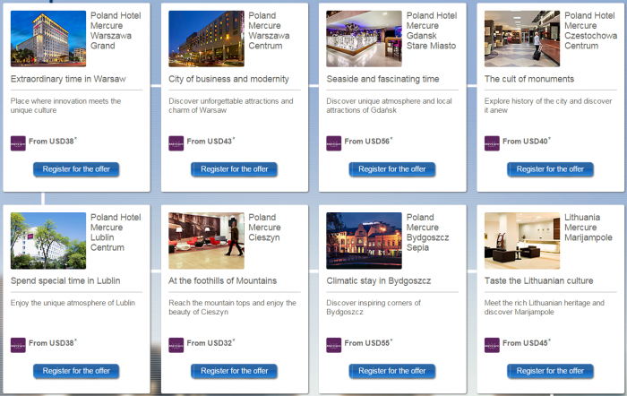 Le Club Accorhotels Mercure Poland Lithuania Latvia Triple Points January 19 - February 28 2015 Hotels