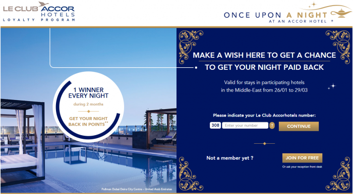 Le Club Accorhotels Once Upon A Night Promotion