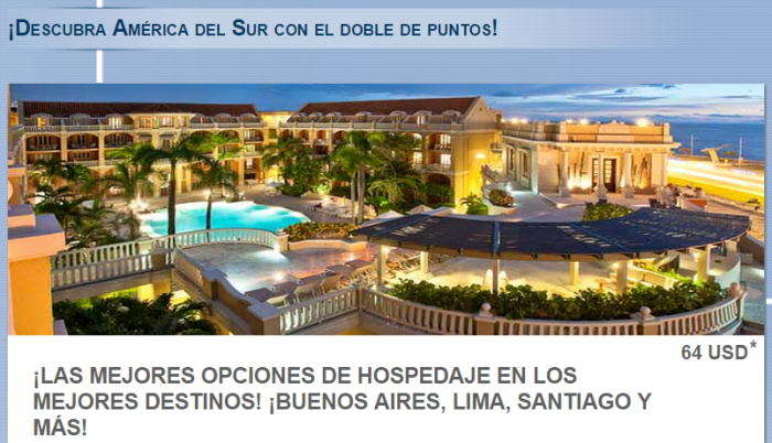 Le Club Accorhotels South America Double Points January - February 2015
