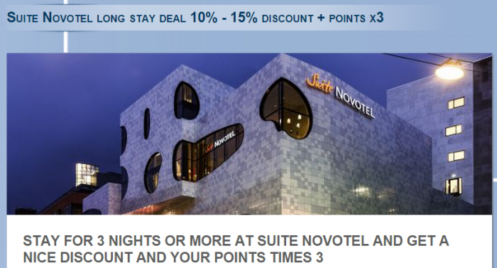 Le Club Accorhotels Suite Novotel Triple Points Offer February 6 April 8 2015