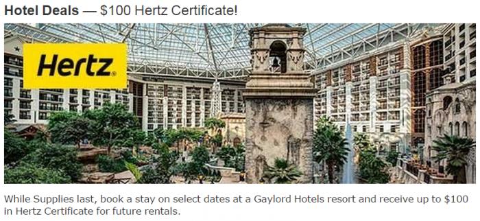 Marriott Rewards Gaylord Hotels Hertz Promotion