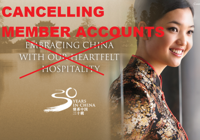 Shangri-La Golden Circle Canceling Member Accounts
