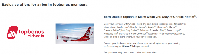 Choice Privileges Airberlin Topbonus Double Miles Expiry Unclear