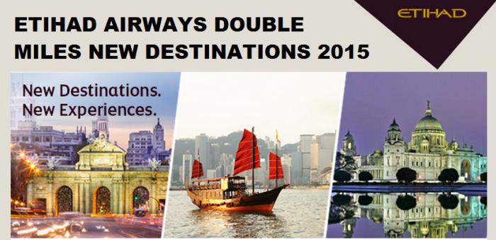Etihad Airways Double Miles New Routes 2015