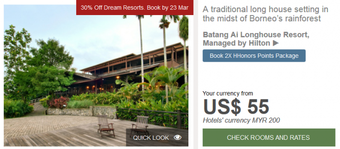 Hilton APAC Dream Resorts Batang Ai