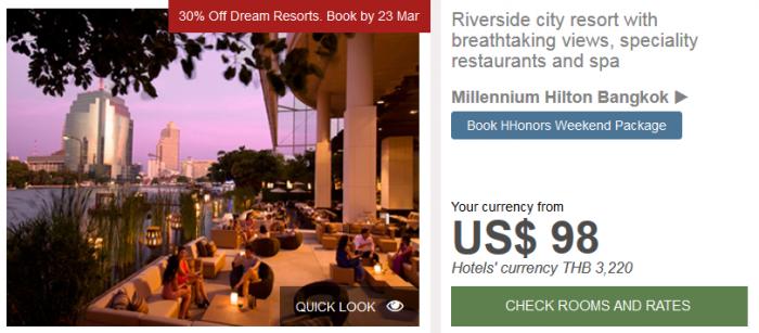 Hilton APAC Dream Resorts Millennium Hilton Bangkok