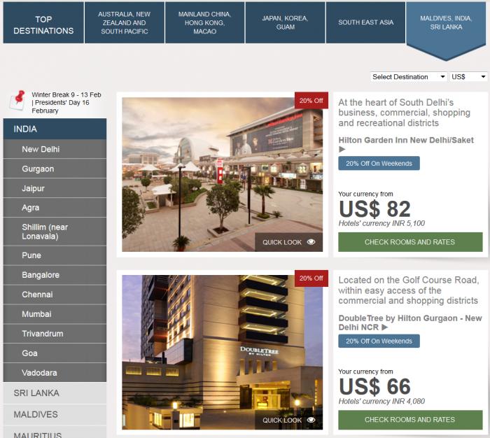 Hilton Asia Pacific Sales Website Maldives India Sri Lanka