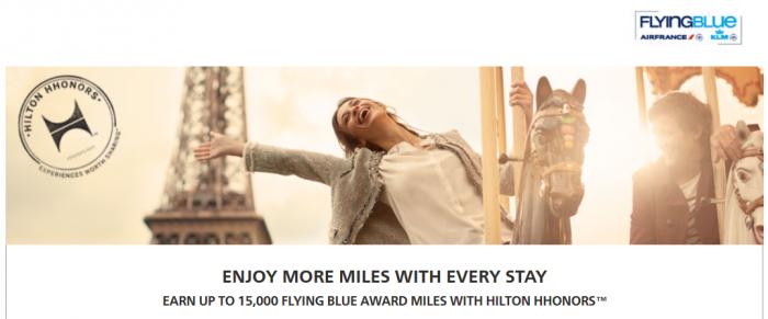 Hilton HHonors Flying Blue Up To 15,000 Bonus Miles February 1 - April 30 2015