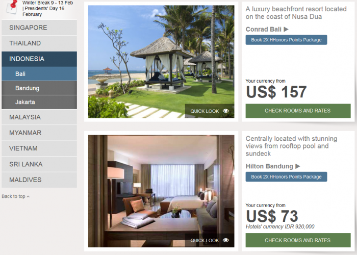 Hilton Southeast Asia Weekend Sale Indonesia