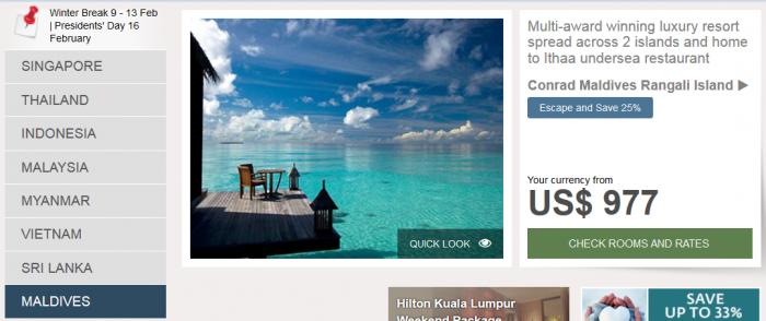 Hilton Southeast Asia Weekend Sale Maldives