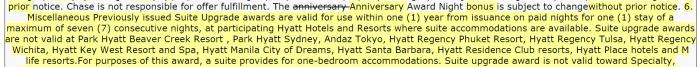 Hyatt Gold Passport Suite Night Awards Excluded Properties