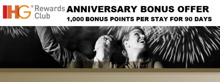 IHG Rewards Club Anniversary Bonus Offers 2015 Main U