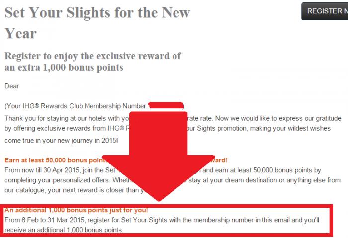 IHG Rewards Club Set Your Sights 1000 Bonus Points Body