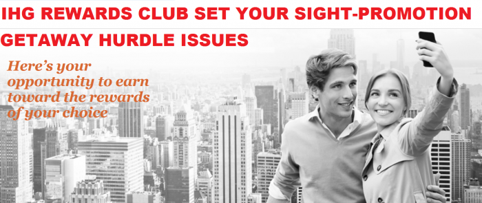 IHG Rewards Club Set Your Sights Promotion Getaway Hurdle Issues