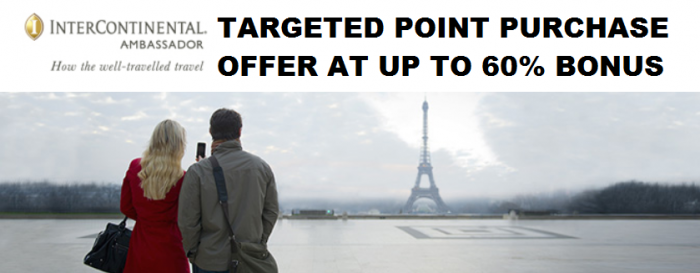 IHG Rewards Club Targeted Points Purchase Offer February March 2015