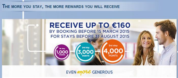Le Club Accorhotels 8000 Bonus Points 160 Euros3 Stays February 23 - August 31 2015