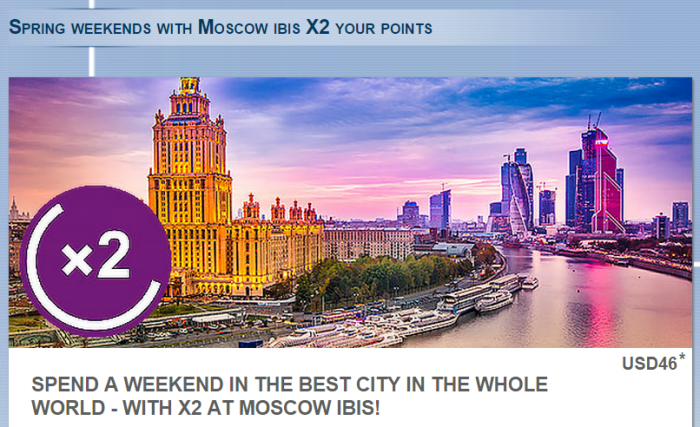 Le Club Accorhotels Ibis Moscow Weekends Double Points February 21 April 30 2015