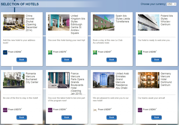 Le Club Accorhotels New Hotels Quadruple Points February 2015 Selection