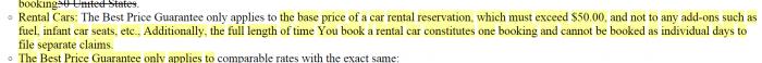 Orbitz Best Price Guarantee Further Devalued Rental Cars
