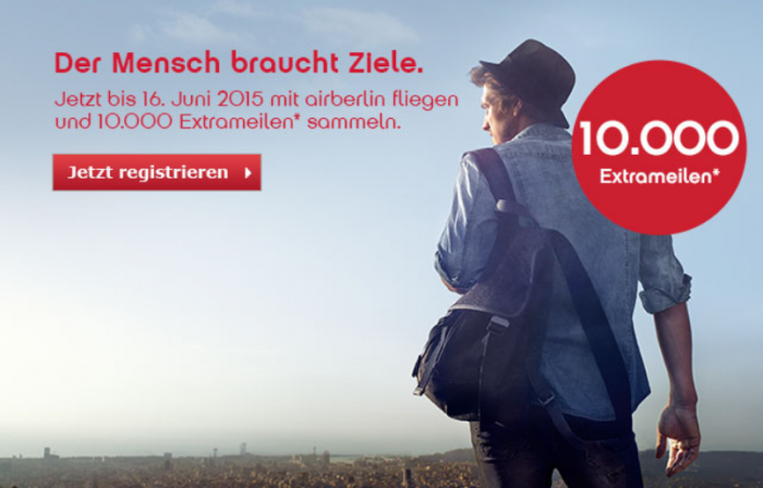 Airberlin Topbonus 10000 Bonus Miles June 16 2015