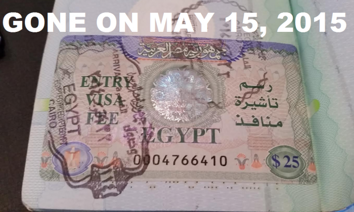 Egypt Visa Change