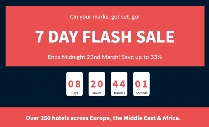 Hilton HHonors EMEA 7 Day Up To 33 Percent Off Flash Sale March 16 - 22 2015