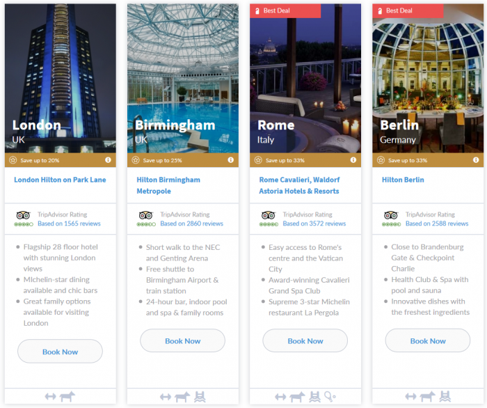 Hilton HHonors EMEA 7 Day Up To 33 Percent Off Flash Sale March 16 - 22 2015 Tile 5
