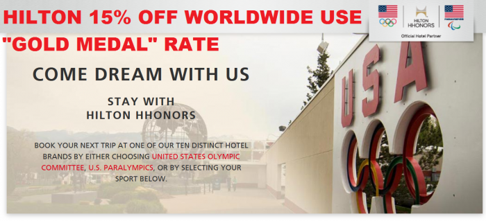 Hilton HHonors Gold Medal Rate